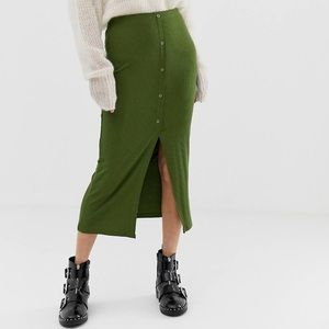 ASOS Green Pencil Skirt, Size US 4, NEW